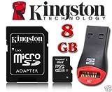 Carte mémoire 8GB Kingston Micro SD pour GPS Garmin Nuvi 30/40/42/50 52 54 2455LT 2445LMT 2407 2507 2360LT 2460LT 2415LT 2415LM 2445 2455 2455LMT 2475LT 2495LMT 2515 2545 2545LMT 2515LT 2585TV 2595LMT 3490LT 3490LMT 3540LT 3590LMT 3710 3790T 2567LMT