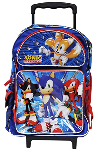 152ed7d85aa9 Full Size Blue and Red Sonic the Hedgehog Team Rolling Backpack