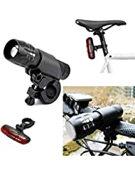 Q5 7W 450LM CREE Fahrradlicht Lichtset für vorne und hinten mit Halterung, Zoom-Lampe by TARGARIAN
