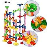 dOvOb Marble Run Toys - Construction Building Blocks Set (105PCS) - Coaster Railway