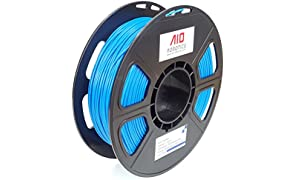 AIO Robotics Aioblue PLA imprimante 3d Filament, bobine de 0.5kg, précision Dimensionnelle +/-0,02mm, 1.75mm, Bleu