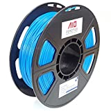 AIO Robotics Premium 3D Drucker Filament, PLA, 0,5 kg Spule, Genauigkeit +/- 0,02 mm, 1,75 mm Durchmesser, Blau