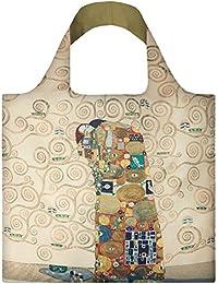 GUSTAV KLIMT The Fulfilment Bag: Gewicht 55 g, Größe 50 x 42 cm, Zip-Etui 11 x 11.5 cm, handle 27 cm, water resistant, made of polyester, OEKO-TEX certified, can carry up to 20 kg