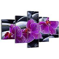 Quadro su tela - cinque 5 tele - larghezza: 100cm, altezza: 70cm - numero dell'immagine (Rocce Levigate)