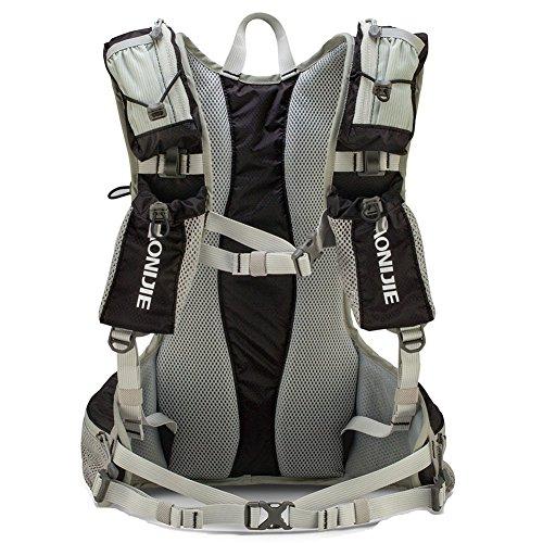 Sport 12L Rucksack, wasserdicht Wandern Rucksack Multifunktions Klettern Camping Rucksack Sport Tasche für Outdoor Schwarz