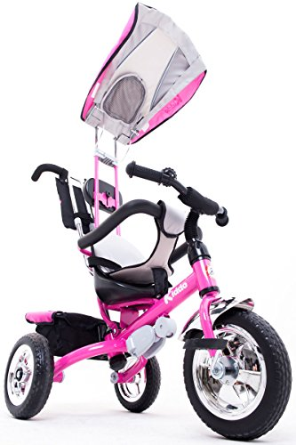 kiddo rosa smart design 4 in 1 f r kinder dreirad kinder trike 3 r der fahrrad eltern neue rosa. Black Bedroom Furniture Sets. Home Design Ideas