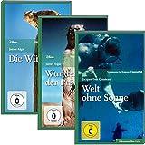 SZ Cinemathek Dokumentarfilm Natur: Die Wüste lebt / Wunder der Prärie / Welt ohne Sonne, 3 DVDs