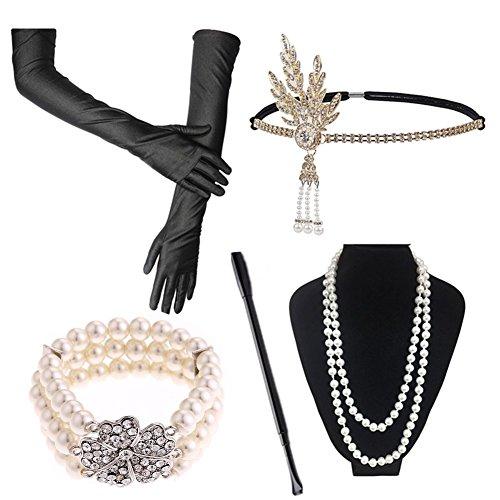 1920er Zubehör Set Great Gatsby Flapper Kostüm für Frauen Susan