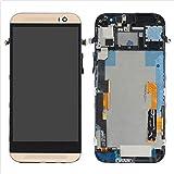 FOR JIUJINYI HTC One M8 831C Display im Komplettset LCD Ersatz Für Touchscreen Glas Reparatur Retina Bildschirm Netzhaut (Gold + Rahmen)