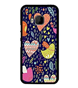 PrintVisa Designer Back Case Cover for HTC One M9 :: HTC One M9S :: HTC M9 (orange purple sliver yellow maryoon)
