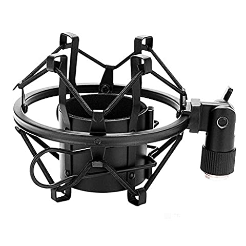 Zetong Shock Mount,Radiodiffusion Durable Studio Microphone Mic Suspension Ciseaux Bras