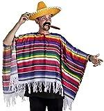ILOVEFANCYDRESS Poncho messicano sombrero & Tash western costume da uomo da donna taglia S-XL