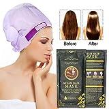 Dampfhaarmaske, ROMANTIC BEAR Professional Hair Treatment, tiefes Conditioner trockenes oder beschädigtes Haar, automatische Heizung Keratin Argan Oil Hair Mask