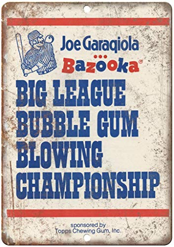 Hunnry Big League Bubble Gum Poster Metall Blechschilder Retro Dekoration Schild Aluminium Blechwaren Vintage Wandkunstplakat Zum Cafe Bar Wohnzimmer Zuhause (League Gum Big)