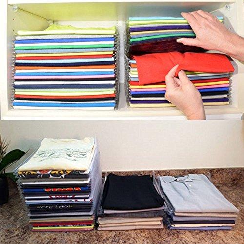 T-Shirt Kleidung Ordner großen Magic Schnelle Wäsche Organizer Zusammenklappbar Board Regal stabiler faltenfreier mit 10/Set