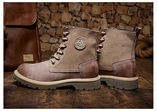 Bottes Hl-pyl-martin Rétro Hautes Chaussures All-match Boots. Couleur De Sable