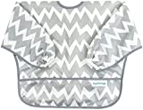 Hippychick Bumkins Sleeved Bib - Grey Chevron