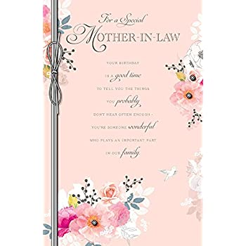 Special Mother In Law Birthday Card Amazon Office Products