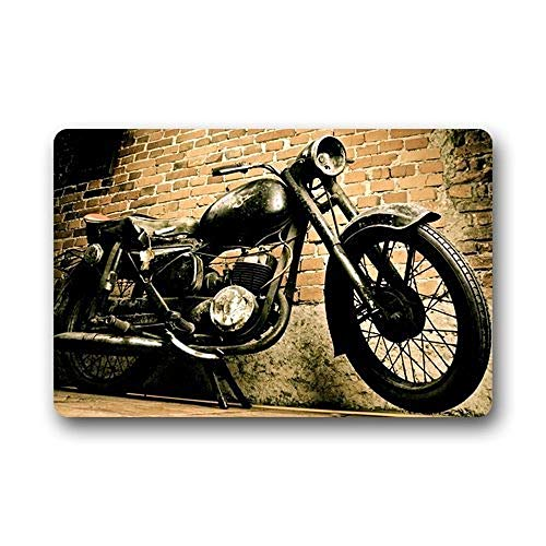 Design Vintage Retro Motorcycle Custom Non Slip Washable Fußabtreter Fashion Unique Top Washable Fußabtreters/Outdoor Door Mat Gate Pad 23.6 X 15.7 Inch Indoor/Outdoors