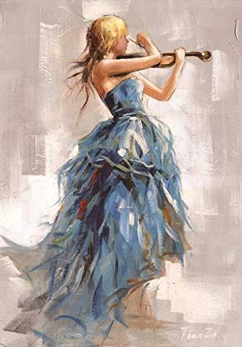 XRYEUO Quadro su Tela Quadri Moderni su Tela Dipinti su Tela Ragazza Che  Suona Il Violino Poster E Stampe Ballerina Ragazza Stampe su Tela per ...