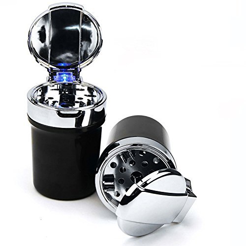 Preisvergleich Produktbild Lanxi® LED Tragbar Auto LKW Auto Büro Aschenbecher tragbar Auto LKW Auto Büro Aschenbecher schwarz