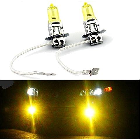 Poseidon Coppia giallo xeno h3 12v lampadine del fascio 55w faro bassi per infiniti 90-97 g20