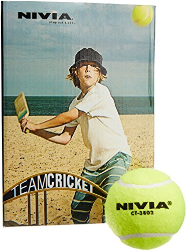 Nivia Light Weight Tennis Cricket Ball, Pack of 6 (Yellow)  available at amazon for Rs.324