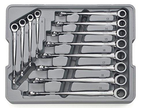 GearWrench 8588812-teiliges Set Metrisches x-beam Kombination Ratschenschlüssel (Gearwrench Kombination Metrisch)