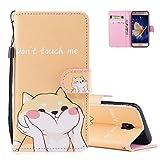 aeeque 10tipos de colorido patrón y tipo libro suave silicona a prueba de golpes cubierta de protección antiarañazos para Samsung Galaxy J3sm-j33020175.0Inch Cute Animal Cat