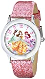 Disney Kids' W000408 Disney Tween Glitz Princess Stainless Steel Watch With Pink Glitter Leather Band best price on Amazon @ Rs. 1674