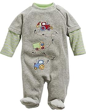 Schnizler Baby - Jungen Schlafstrampler Schlafanzug Nicki Traktor Lkw Bagger, Oeko Tex Standard 100