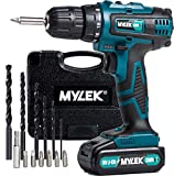 MYLEK® 18V Cordless Drill Driver with LED Work Light - 13 Piece Accessory