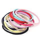 QtGirl 60 Stk 12 Farben mischen elastische Baby Stirnbänder Haar Reifen Kleinkind Kopf Verpackungen