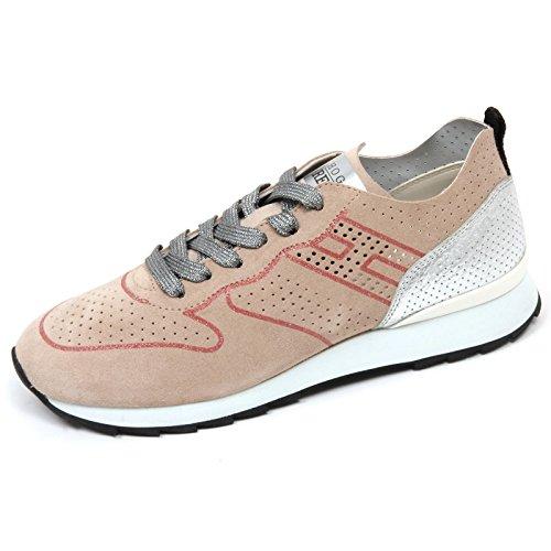 C8416 sneaker donna HOGAN REBEL R261 scarpa beige argento shoe woman  37.5  171d272613a