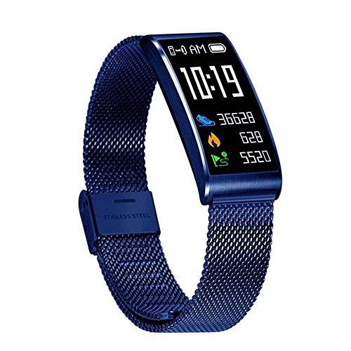 Leegoal Fitness Tracker, Wasserdichter Activity Tracker mit Herzfrequenz-Monitor, Sleep Monitor, Mehrere Sportarten, Step Kalorienzähler, Anruferinnerung für Frauen, Männer, Kinder(Blau)