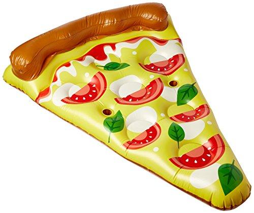 Floatie kings - materassino gonfiabile premium a forma di pizza 180 cm - dimensioni enormi ( adatto per 2 adulti - portabicchieri - alta qualità)