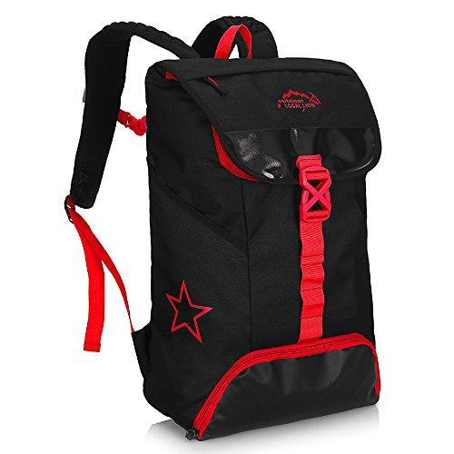 Diamond Candy Zaino da Trekking Outdoor Donna e Uomo con Protezione Impermeabile per alpinismo arrampicata equitazione ad Alta Capacit¨¤ borsa da viaggio,Multifunzione, 35 litri Blu Black&Red