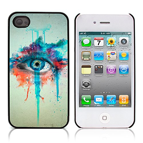Graphic4You Curves On Canvas Digital Art Muster Design Harte Hülle Case Tasche Schutzhülle für Apple iPhone 4 und 4S Design #4