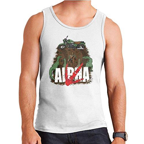 Akira Park Alpha Jurassic World Owen Men's Vest White