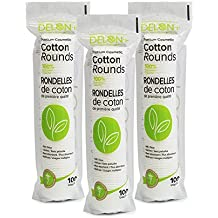 Delon 100% Cleansing Cotton Rounds, 300 Count