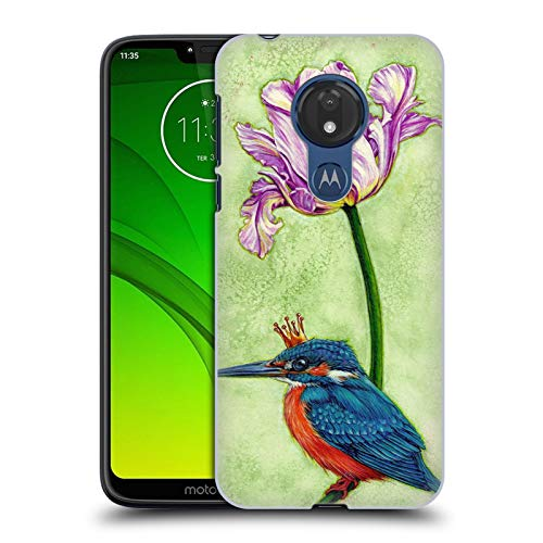 Price comparison product image Official Jane Starr Weils King Fisher Print Symbols And Ornaments Hard Back Case for Motorola Moto G7 Power