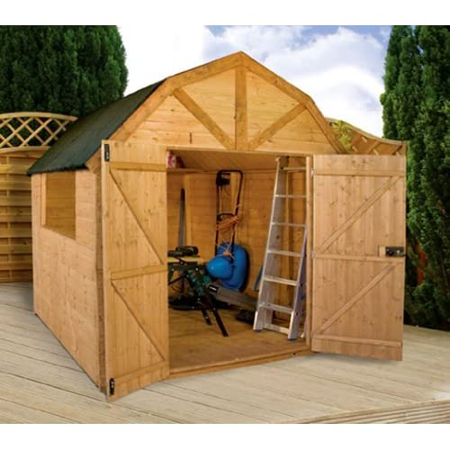51D7QTYRPiL. SS500  - 8.5ft W x 8ft D Wooden Storage Shed