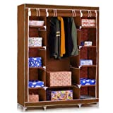 #7: Fancy and Portable Foldable Closet Wardrobe Cabinet Portable Multipurpose Clothes Closet Portable Wardrobe Storage Organizer with Shelves 3.5 Feet Folding Wardrobe Cupboard Almirah Foldable Storage Rack Collapsible Cabinet (Need to Be Assembled) By Krishyam
