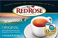 Red Rose Original Black Tea - Single Serve Cups - 1 Box of 12 Cups