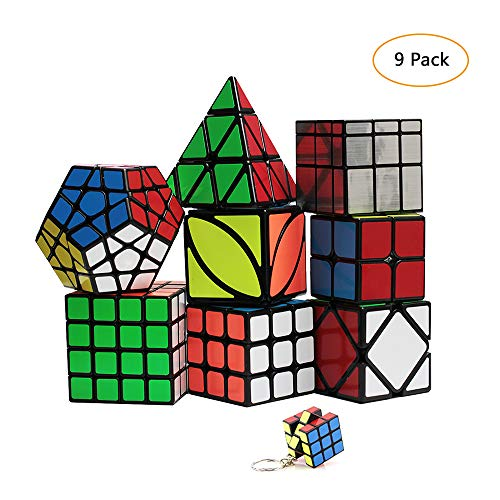 YGZN Speed Cube Set 8 Pack 2x2 3x3 4x4 Speed Cube ,Megaminx...