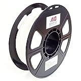 AIO Robotics AIOWHITE PLA 3D Drucker Filament, 0.5 kg Spule, Genauigkeit +/- 0.02 mm, Durchmesser 1.75 mm, Weiss