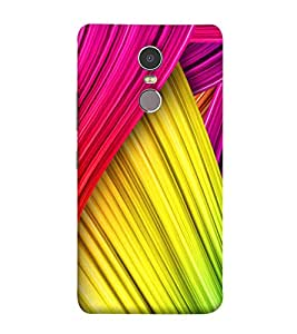 Colourful Layers Pattern 3D Hard Polycarbonate Designer Back Case Cover for Lenovo K6 Note