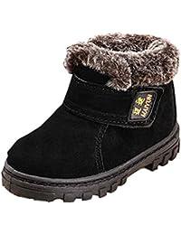 Tefamore zapatos botas de nieve bebe de deporte de primeros pasos de antideslizante de solo suave invierno de calentar