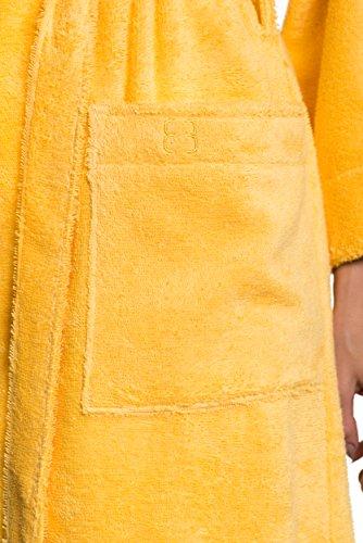 AUDREY Bademantel Saunamantel aus der Sophie Bernard Kollektion Bath & Spa. Fühl dich wohl! XXL-Größe / gelb Hell Grau