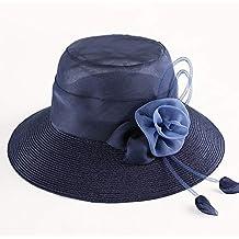 Sombrero - Visera para el Sol Damas Plegables Viajes de Verano Sombrero para  el Sol Sombrero de Playa Moda Salvaje Sombrero de Paja de Ocio al Aire  Libre ... 11a39dfc2bf